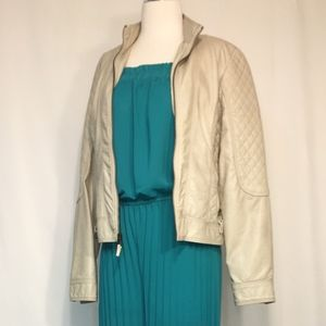 JESSICA SIMPSON ~Ivory Faux Leather Jacket~ Small